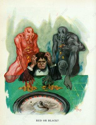The evils of gambling, illustration