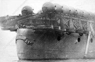 First World War mine-laying ship