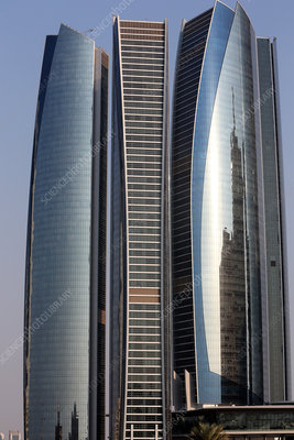 Abu Dhabi, the Etihad Towers building complex