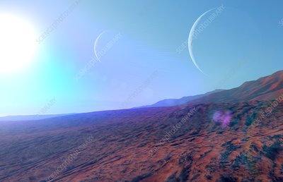 Exoplanet surface, illustration