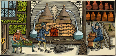 Distillation, Middle Ages