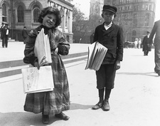 Newsgirl and Newsboy, 1893