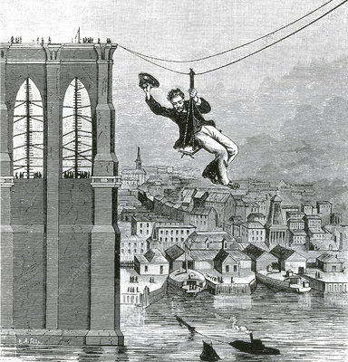 First Crossing of the Brooklyn Bridge, 1876