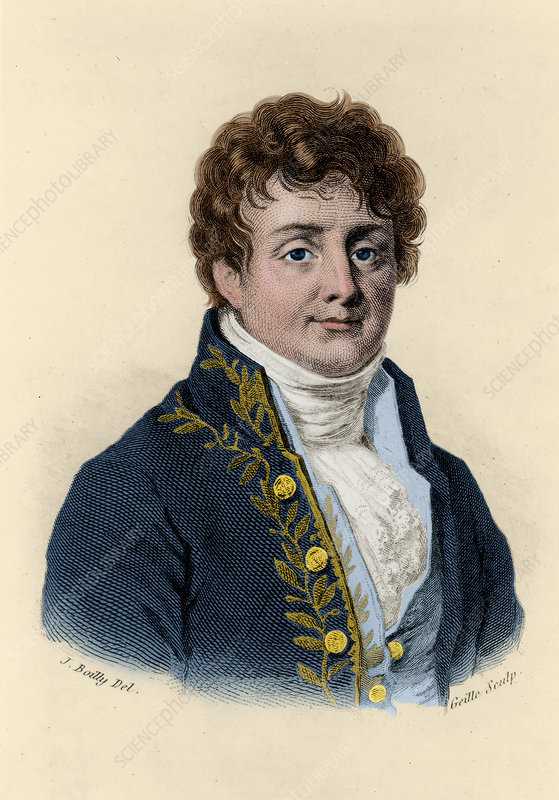 Joseph Fourier, French Mathematician and Physicist - Stock Image ...