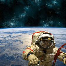 Astronaut Floating in Space, Composite