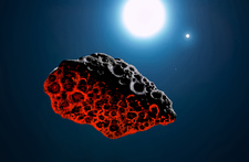 Binary Star and Asteroid, Illustration