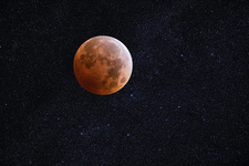 Lunar Eclipse and Starfield