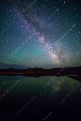 Milky Way Reflecting in Lake,