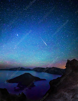 Meteor Over Crater Lake, Oregon