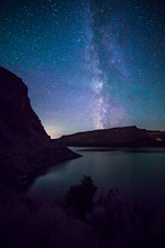 Milky Way, Lake Billy Chinook, Oregon