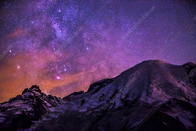 Sagittarius Milky Way and Mt. Rainier