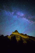 Ship Rock and Milky Way, Central Oregon