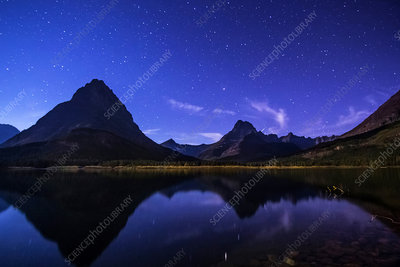 Night Reflections, Swiftcurrent Lake