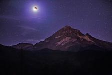 Total Lunar Eclipse over Mt Hood