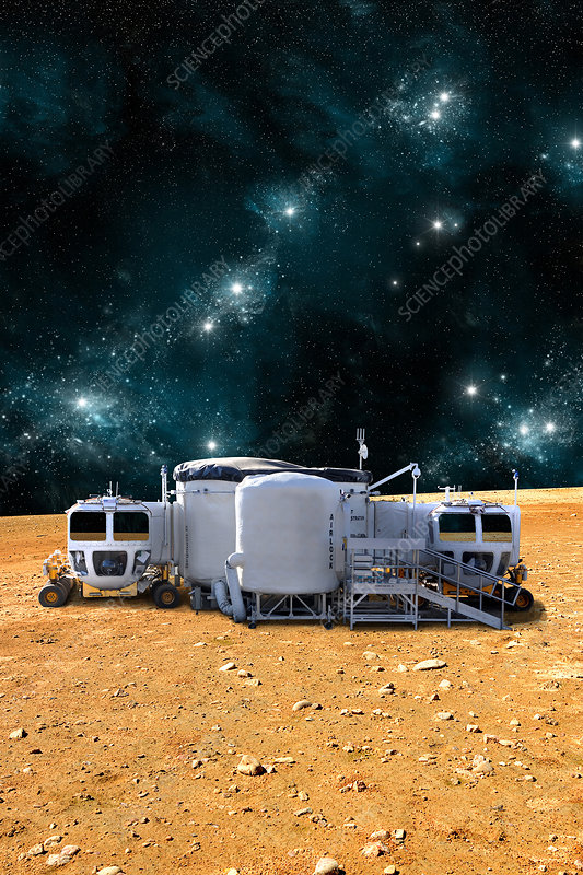 An Outpost On A Barren Planet Stock Image C0334732 Science