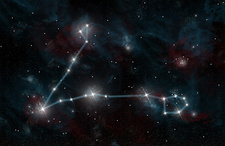 Constellation of Pisces the Fish