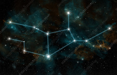 Constellation of Virgo the Virgin
