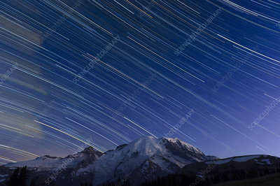 Star Trails Mt. Rainer