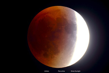Total Lunar Eclipse, Partial Phase, 9 27 2015
