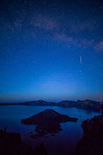 Twilight Meteor at Crater Lake NP