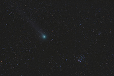 Comet C 2014 Q2 Lovejoy and NGC 457