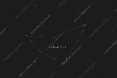 Capricornus, Constellation, Labeled