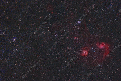 Open Clusters and Nebulae in Auriga