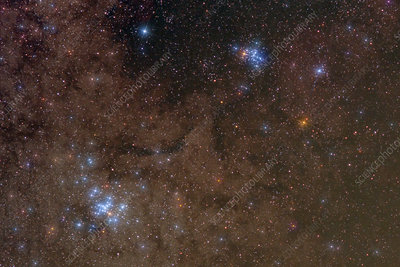 M6 and M7, Open Clusters in Scorpius