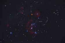 Orion, Constellation, Labeled