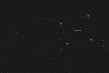 Pegasus, Constellation, Labeled