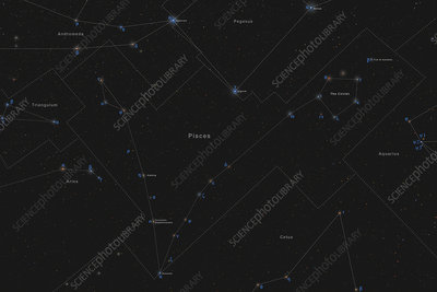 Pisces, Constellation, Labeled
