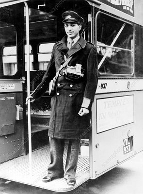 Bus conductor, Oxford, 1950s