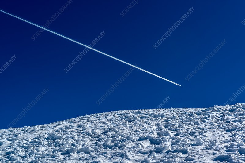 Contrail over Alps