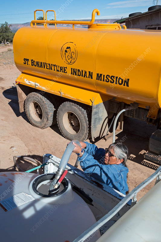 Navajo Nation water delivery, USA