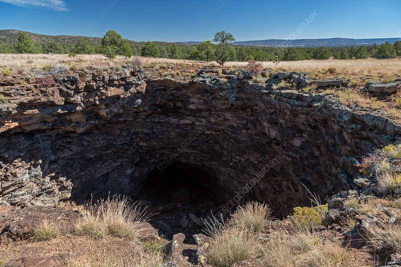 Collapsed lava tube, El Malpais National Monument, USA