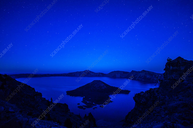Crater Lake at Twilight