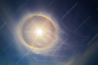 Solar Halo and Cirrus Clouds