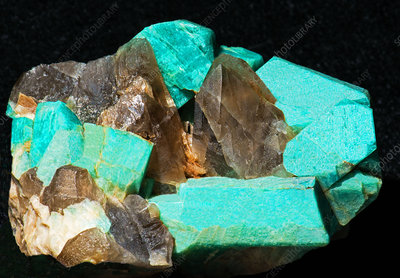 Amazonite and Smokey Quartz Crystals
