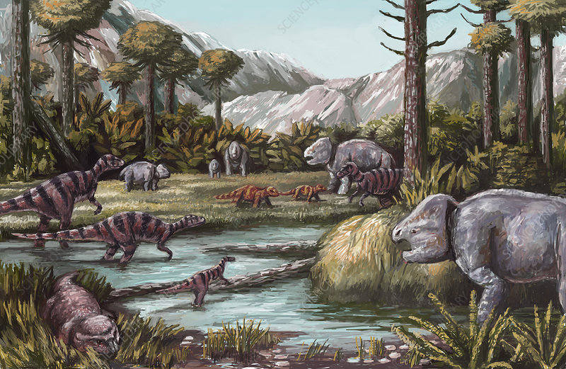 Triassic Period, Illustration