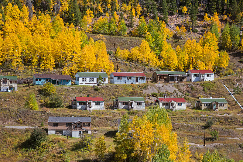 Abandoned mining town, Colorado, USA