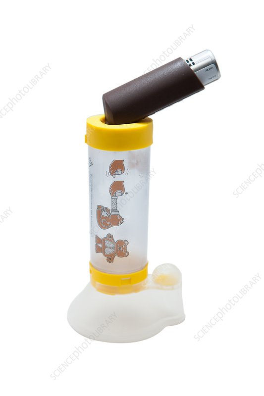 Asthma inhaler and spacer