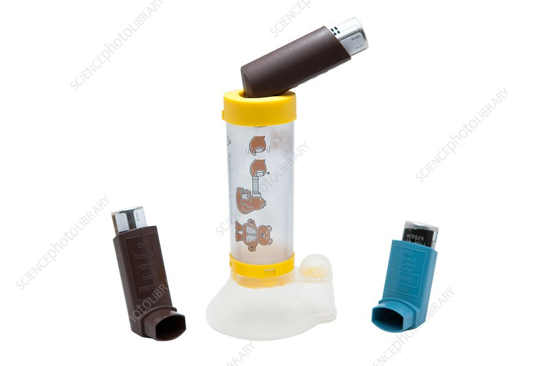 Asthma inhalers and spacer
