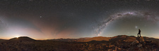 Desert stargazing, 360-degree panorama