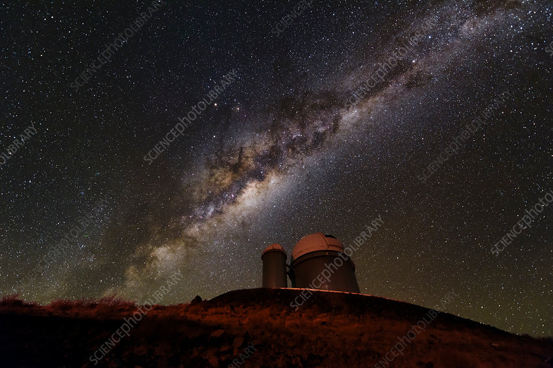Milky Way over dome at La Silla Observatory