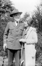 Mary Strong Clemens, American botanist, with her husband