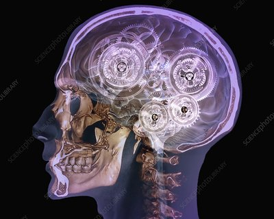 Mechanical brain, conceptual image