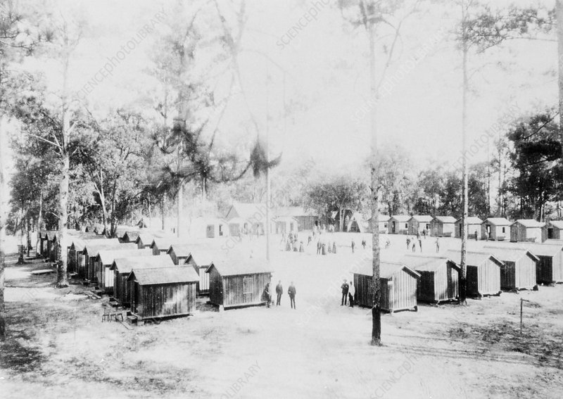 Yellow fever camp, USA, 1888