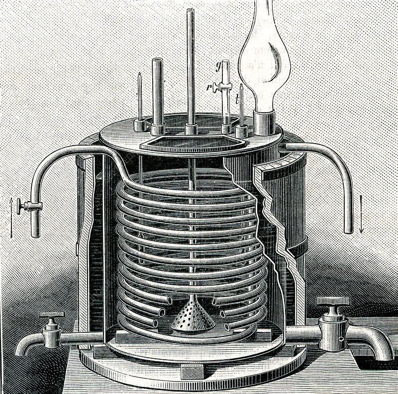 19th Century nitroglycerine machine, illustration