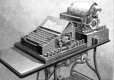 19th Century teleprinter, illustration
