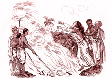 Hindu widow-burning, 19th Century illustration